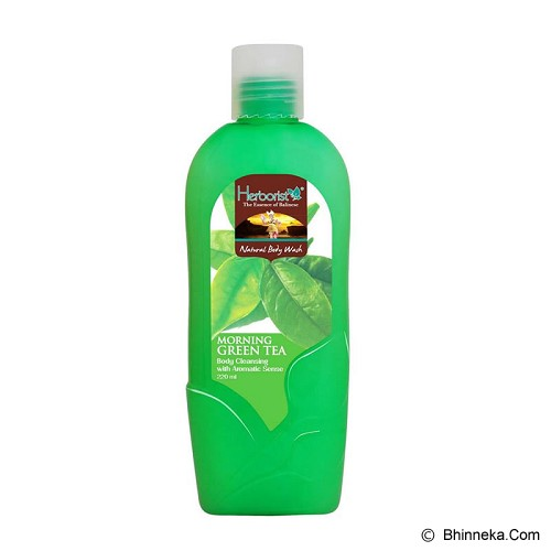 HERBORIST Natural Body Wash 220ml [099202] - Morning Green Tea - Sabun Mandi